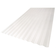 Suntuf 860 x 17mm x 3.6m Clear Corrugated Polycarbonate Roofing Sheet