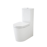 Caroma WELS 4 Star 3-4.5L/Min White Liano Wall Faced Back Entry Close Coupled Toilet Suite