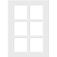 Kaboodle 450mm 6 Panel Glass Cabinet Door - Gloss White