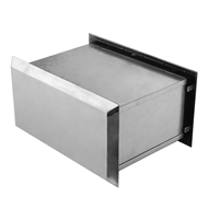 Sandleford 350mm Polished Silver Brickies Front Open Letterbox