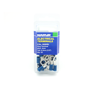 Narva 4mm Ring with 6.3mm Hole Electrical Ring Terminal - 20 Pack