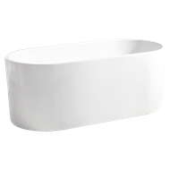 Mondella 1500 x 700 x 580mm White Rumba Free Standing Bath