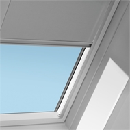 VELUX 780 x 1400mm White Manual Blockout Blind