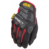 Mechanix Wear Black and Red M-Pact Gloves - Small