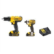 DeWALT 18V Li-ion 2 Piece Cordless Drill And Impact Driver Kit