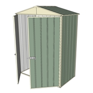 Build-a-Shed 1.5 x 0.8 x 2.3m Double Hinged Door Gable Shed - Green
