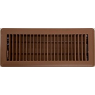 Accord 10 x 30cm Chocolate Metal Louvered Floor Vent
