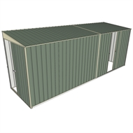 Build-a-Shed 1.5 x 5.2 x 2m Sliding Door Tunnel Shed with Sliding Side Door - Green