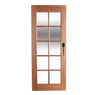 Hume Doors & Timber 2040 x 820 x 40mm Clear Glass 10 Lite Entrance Door