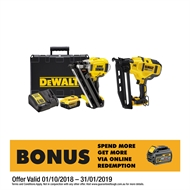 DeWALT 18V XR Brushless 2 Nailer Combo Kit With 2 x 4.0Ah Batteries