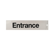 Sandleford 245 x 58mm Entrance Silver Self Adhesive Sign