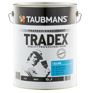 Taubmans Tradex 10L White Flat Interior Ceiling Paint