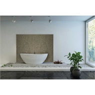 Bellessi 445 x 1200 x 4mm Motiv Textured Polymer Bathroom Panel - Fossil