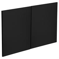 Kaboodle 900mm Luminess Metallic Modern Rangehood Cabinet Doors -  2 Pack