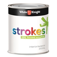 White Knight 250ml Satin Black Strokes Interior Paint