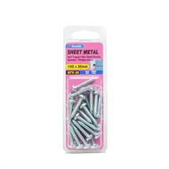 Zenith 10g x 25mm Zinc Plated Self Tapper Pan Head Screws - 25 Pack