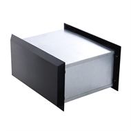 Sandleford 350mm Black Brickies Front Open Letterbox
