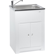 Milena SOLO - 45L SS Laundry Trough and Poly Cabinet with Lid