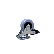 Ambassador 50mm Grey Rubber Heavy Duty Swivel Brake Castor