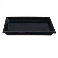 Northcote Pottery Black 'Glazed Look'  Square Saucer - 200mm