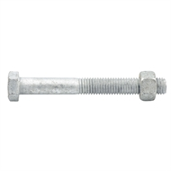 Zenith M12 x 100mm Hot Dipped Galvanised Hex Head Bolts & Nuts - 12 Pack