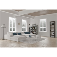 EasyAS 910 x 600mm White Adjustable Plantation Shutter