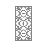 Protector Aluminium 600 x 900mm ACP Profile 10 Decorative Panel Unframed - Silver Matte