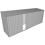 Build-A-Shed 1.2 x 5.2 x 2.0m Zinc Skillion Single Sliding Side Door Shed - Zinc