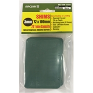 Macsim 72  x 100 x 3mm Heavy Duty Shim Green Pk6