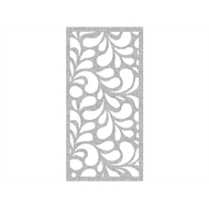 Protector Aluminium 900 x 1800mm Profile 17 Decorative Panel Unframed - Silver Sparkle