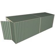 Build-a-Shed 1.5 x 6 x 2m Hinged Door Tunnel Shed without Side Doors - Green