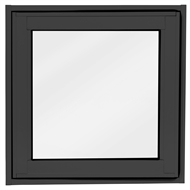 Polar Eco-View 600 x 600mm Black Double Glazed Openable Frosted Window