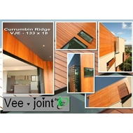 133 x 18mm Vee Joint Tongue And Groove Cedar Cladding - Per Linear Metre