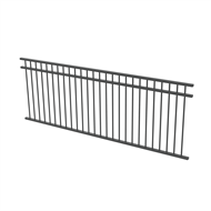 Protector Aluminium 2450 x 900mm Double Top Rail All Up Fence Panel - Monument