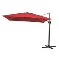 Mimosa 3m Red Square Koko Cantilever Umbrella