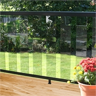 Peak Balustrade 1.8m Black Sectional Glass Kit - Clear