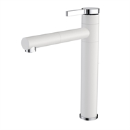 Caroma Twin Sink Mixer - White