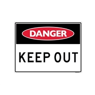 Sandleford 450 x 600mm Keep Out Plastic Sign