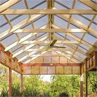 Softwoods 9 x 4.9m Suntuf Standard Roof Free Standing Patio Gable Kit