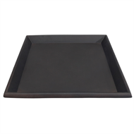 Northcote Pottery Brown 'Glazed Look' Square Saucer - 250mm