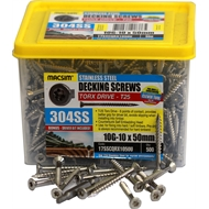 Macsim 10G-10 x 50mm 304 Stainless Steel Torx Decking Screws - 500 Pack