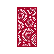 Protector Aluminium 600 x 900mm ACP Profile 25 Decorative Panel Unframed - Light Red