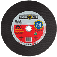 Flexovit 350 x 3.8 x 25.4mm Metal Cutting Wheel