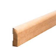 Tasmanian Oak Bullnose Architrave 65 x 19mm x 2.4m Select Grade