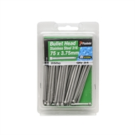 Paslode 75 x 3.75mm 250g Stainless Steel Bullet Head Nails - 34 Pack