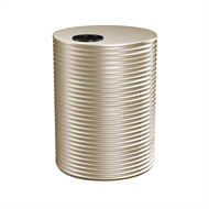 Kingspan 1000L Round Steel Water Tank - 900mm x 1860mm Classic Cream