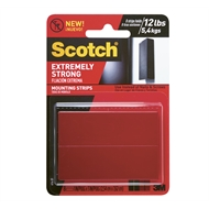 Scotch 7.6 x 2.5cm Extreme Double Sided Mounting Strips - 8 Pack