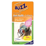 The Buzz Insect Trap Fly Refill Sachet - 3 Pack