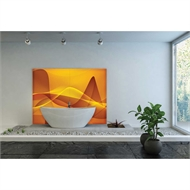 Bellessi 445 x 1200 x 4mm Motiv Polymer Bathroom Panel - Turbulent