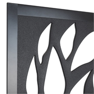 Matrix  1810 x 905 x 9mm Charcoal Jungle Décor Screen with Frame
